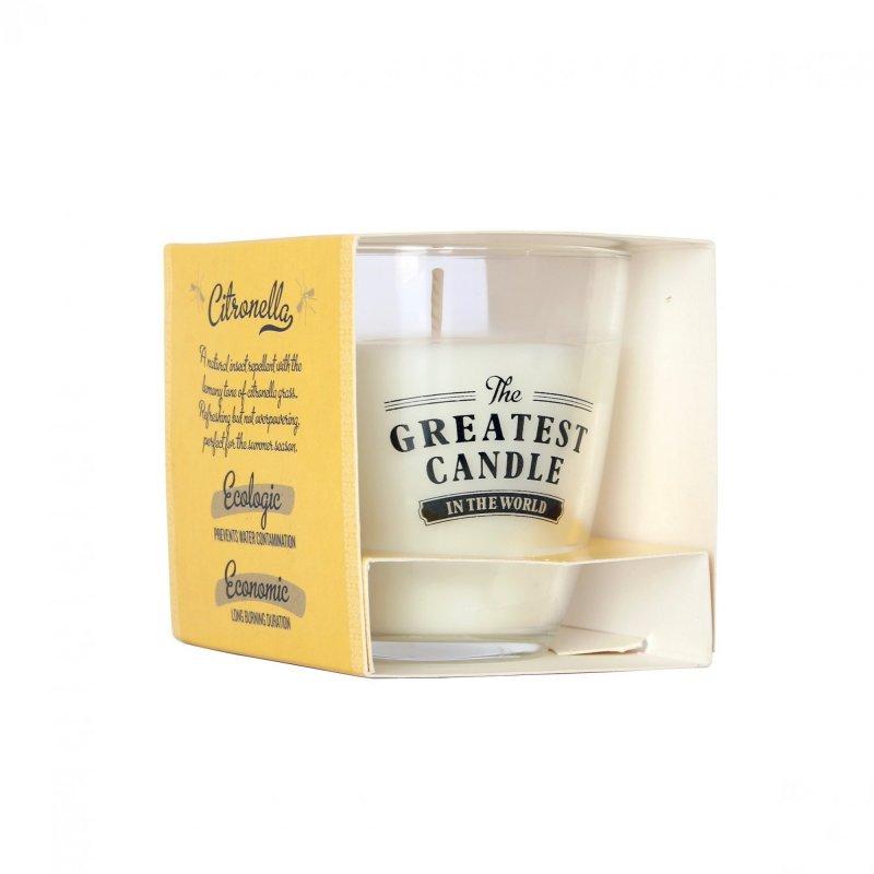 The greatest candle Vonná svíčka ve skle 130g citronelová